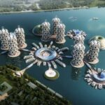 Designing Sustainable Waterborne Communities rendering done by Team-E