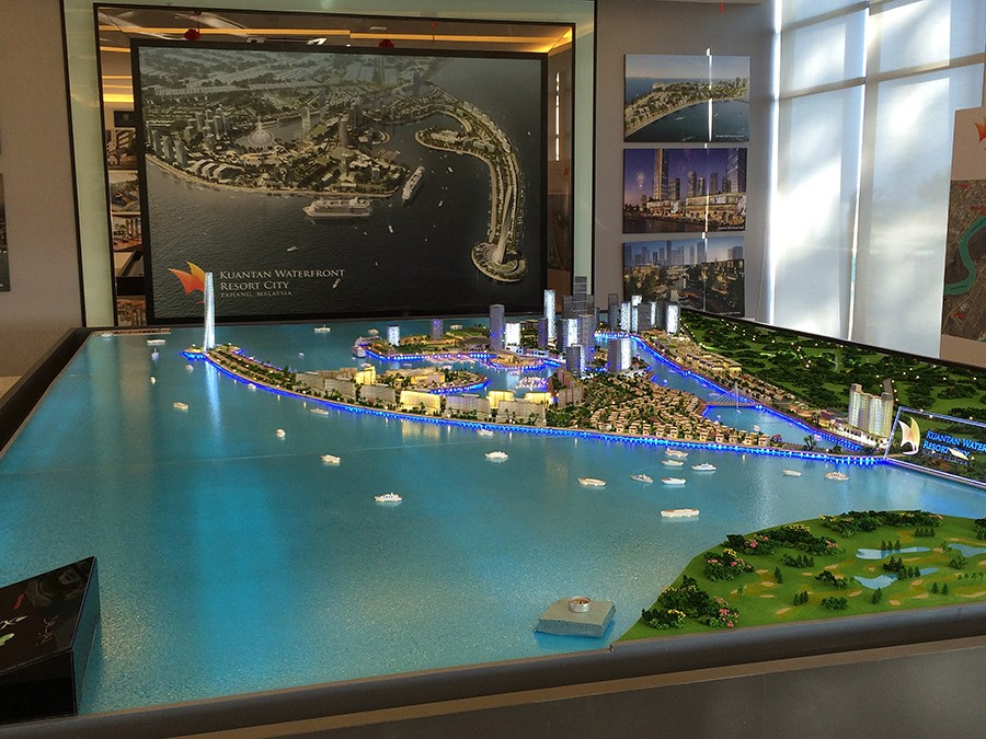 Kuantan Waterfront Resort City Physical Model by TEAME